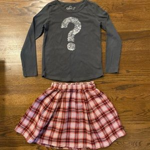 Crewcuts Girls Size 8 Skirt and Top